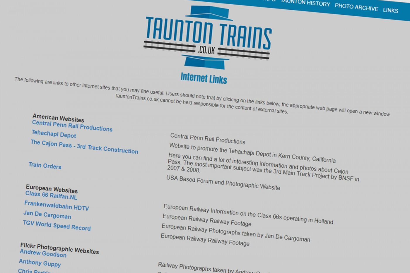 TauntonTrains co uk
